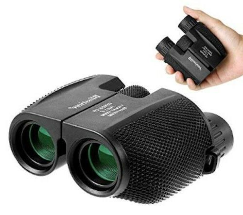 compact binoculars 10x25 folding high powered waterproof