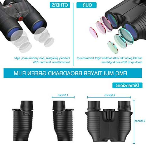 Eyepiece Binocular Night Vision for Adults Kids, Prism Bak4 Lightweight Watching Concerts