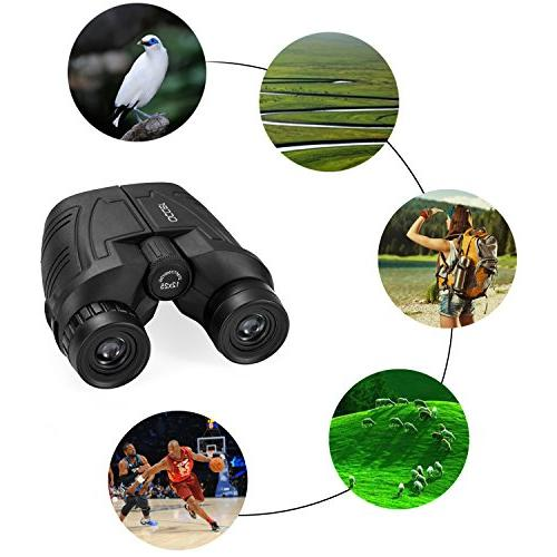 with Low Night Vision, Eyepiece Power Binocular Focus for Outdoor Hunting, bird watching, Sightseeing Fit For adults and kids