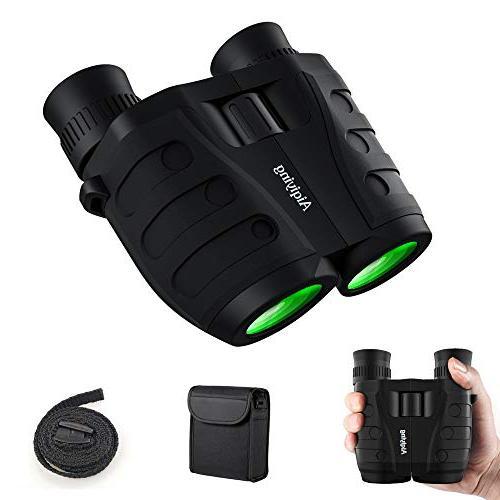 Binoculars 10x25 Compact Pocket Folding for Adults Kids, Low