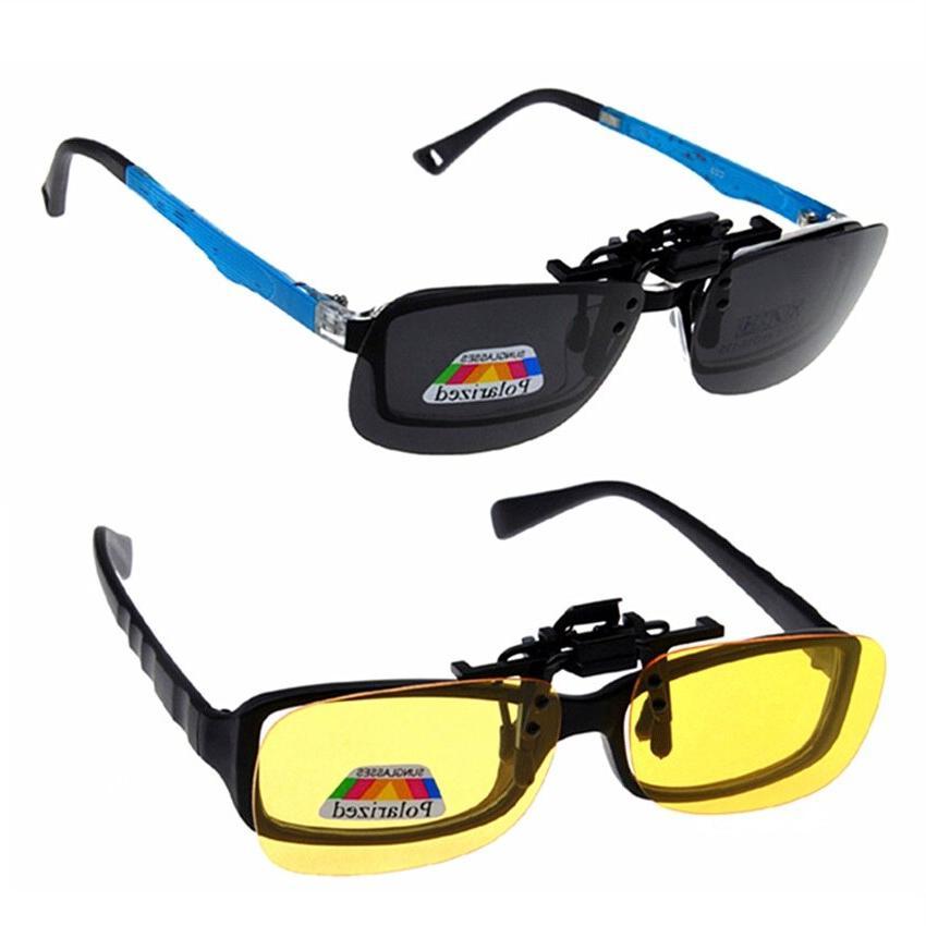 Polarized Clip <font><b>Vision</b></font> for Men Women Clip <font><b>on</b></font> Sunglasses Eyewear
