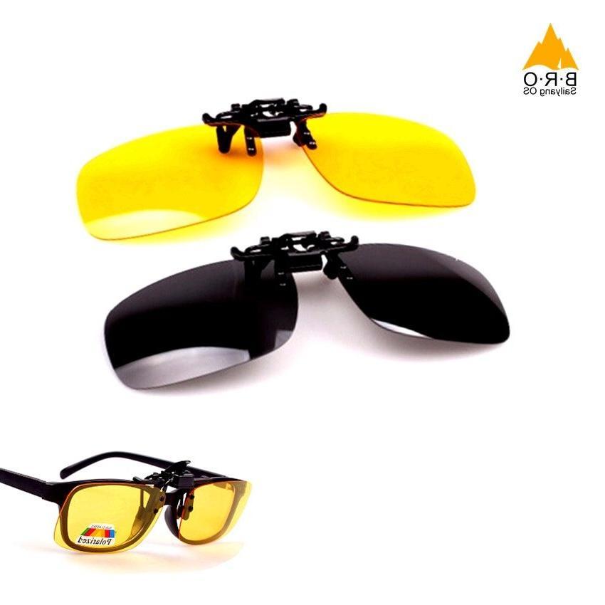 Polarized <font><b>on</b></font> <font><b>Vision</b></font> Men Anti-UVA Cycling Clip Sunglasses