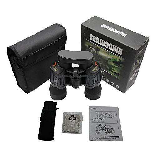 DAXGD Waterproof Fogproof Binoculars 10x50 Powered Telescope with Lens Cap and Cap