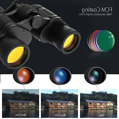 60X60 Day/Night Vision HD Binoculars Travel Telescope+Case