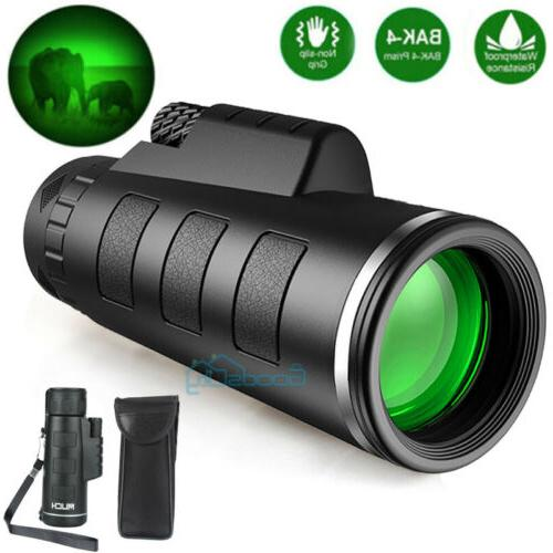 day night vision 40x60 zoom hd monocular
