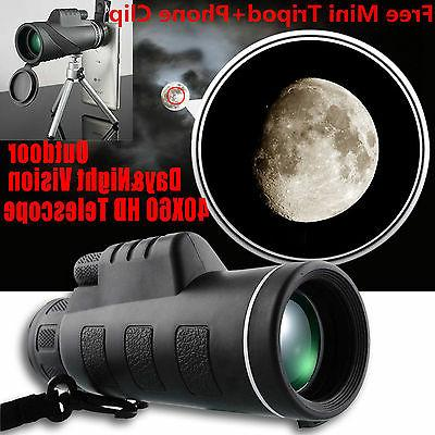 New Outdoor Day&Night Vision 40X60 HD Optical Monocular Hunt