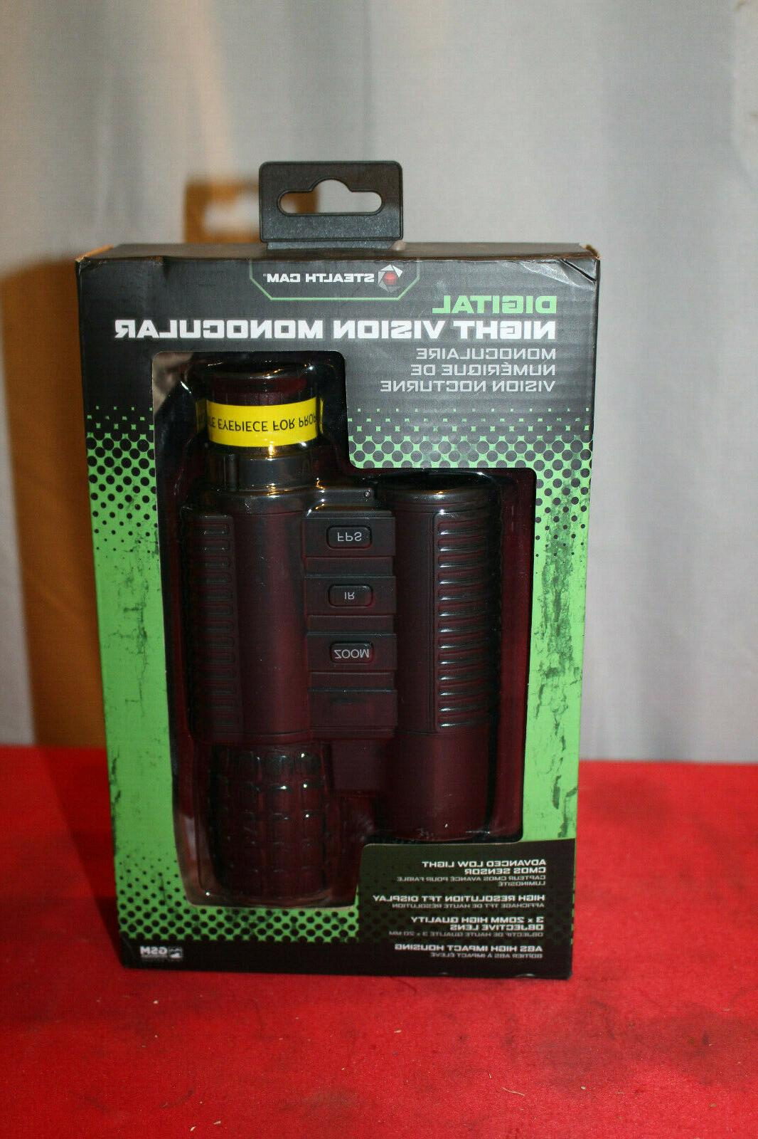 digital night vision monocular 3x20mm stc nvm