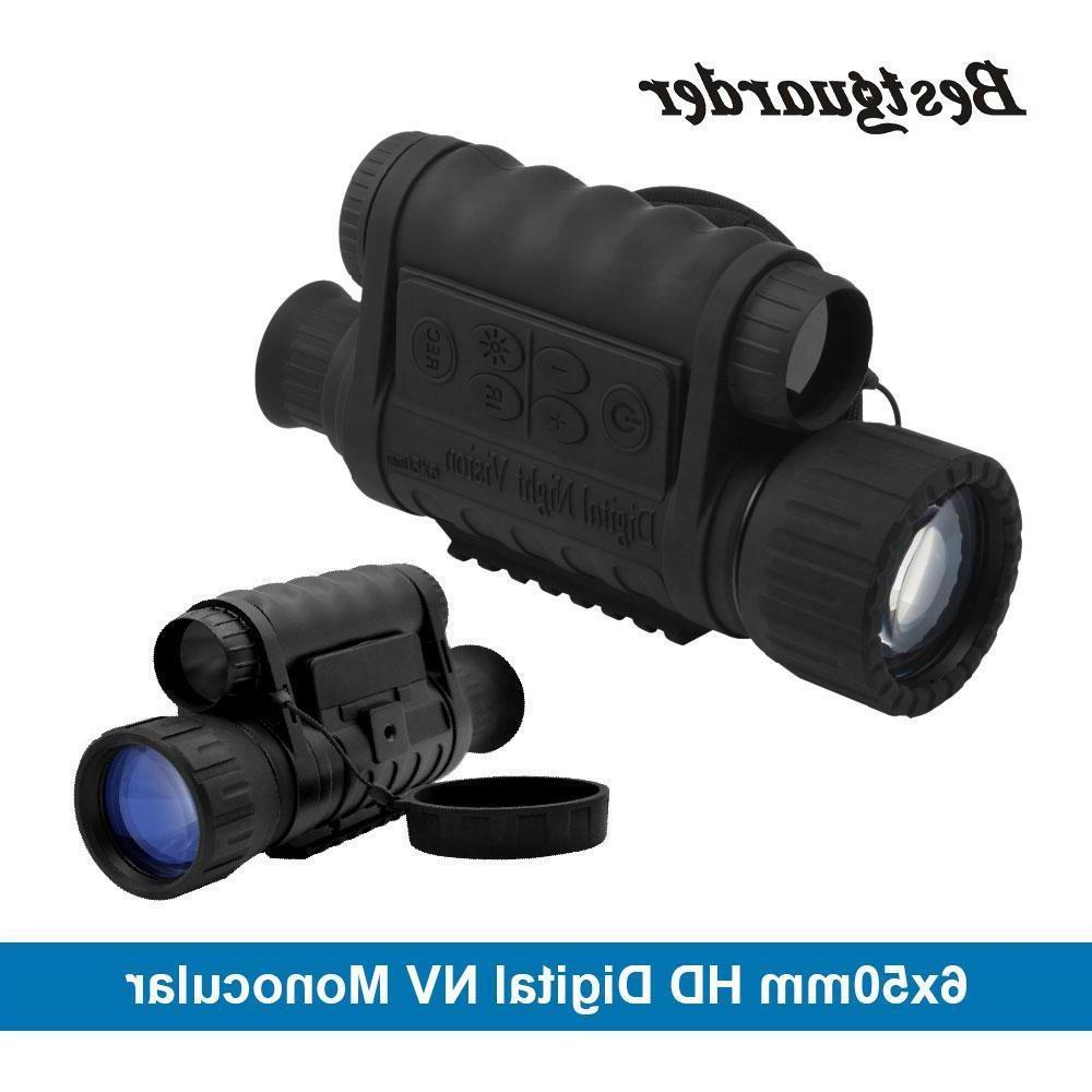 digital night vision monocular 6x50mm 5mp hd