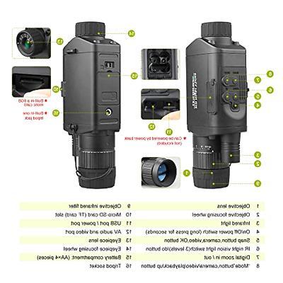 Bestguarder Monocular with WiFi, Infrared IR Camera C