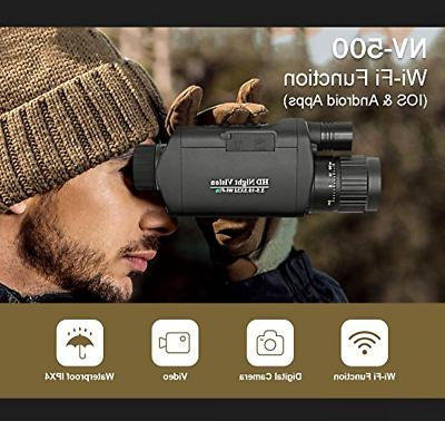 Bestguarder Digital Night Vision Monocular with Infrared & C