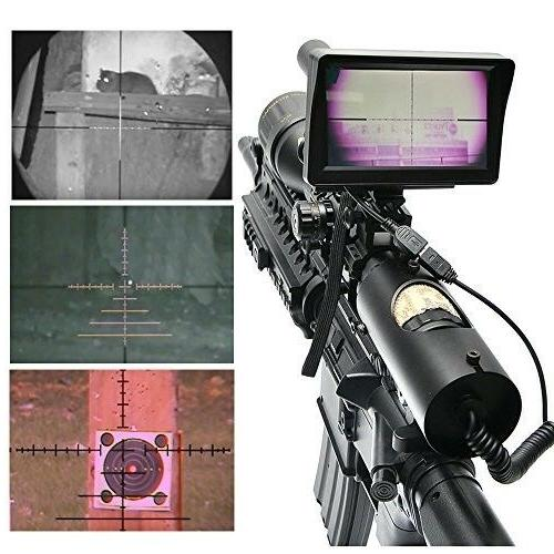 "Digital Scope For Hunting With Camera 5"" Display"
