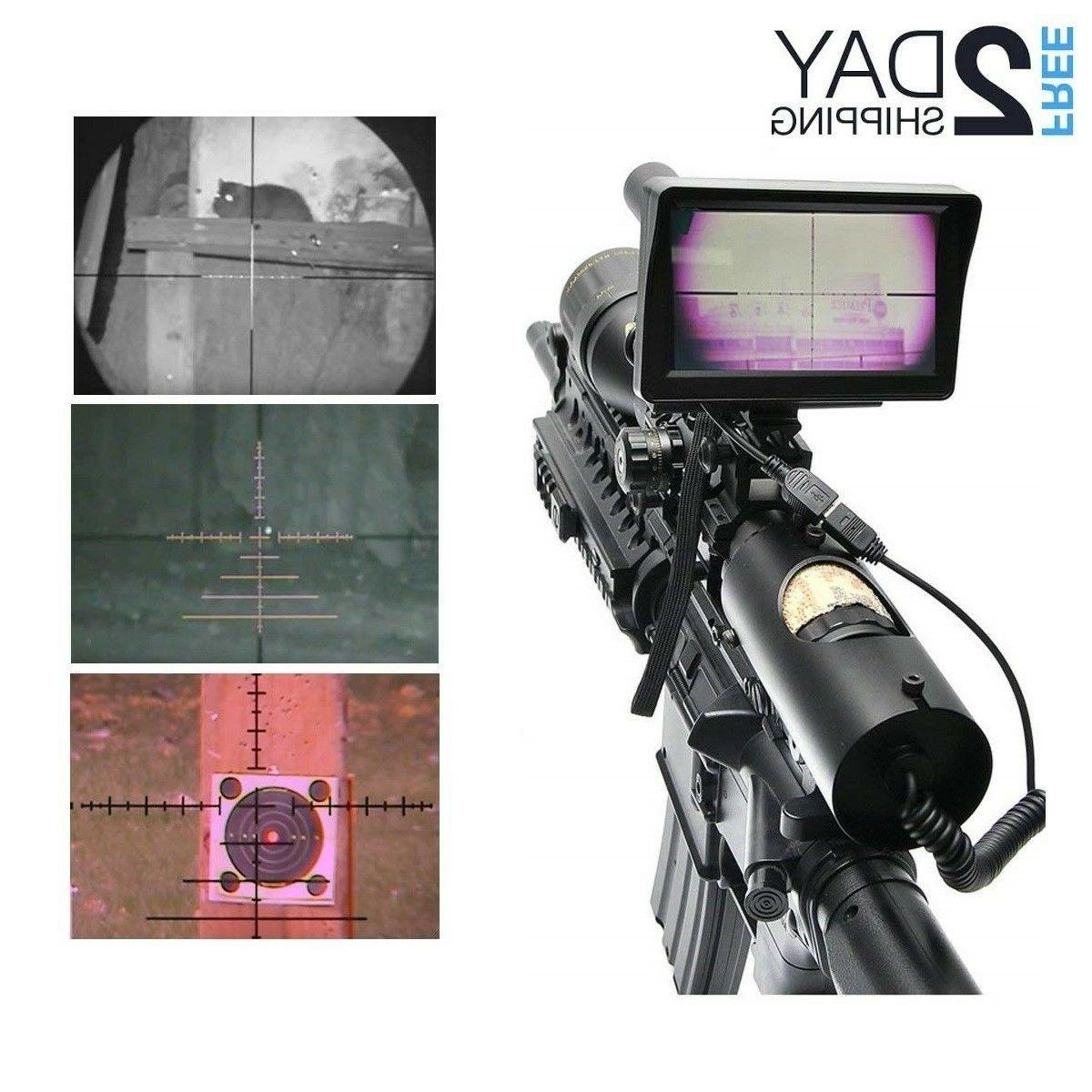 digital night vision scope for rifle hunting