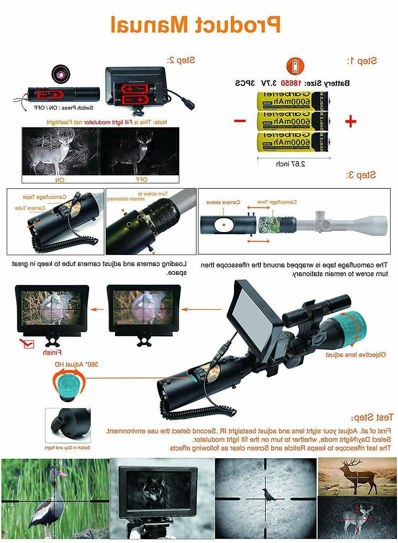 "bestsight Vision Rifle Camera 5"""