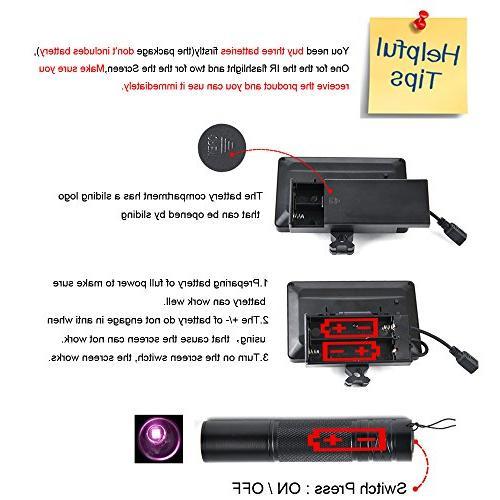 "bestsight DIY Vision Hunting 5"" Portable Display Screen"