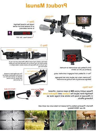 "bestsight DIY Digital Night Vision Hunting 5"" Portable Display Screen"