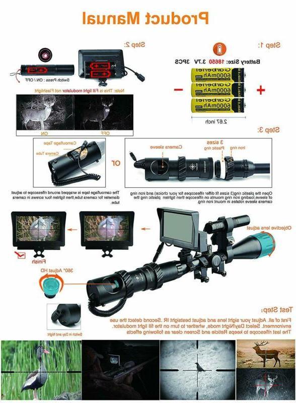 Bestsight DIY Night Vision Scope and Flashlight for Riflescope Ni