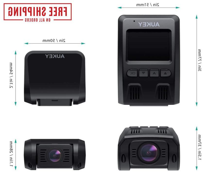 Dual Dash 1080P and With Lens AUKEY Dashcam