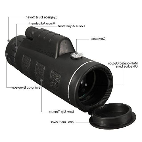 Monocular Telescopes Power Scopes - Low Night Phone and Tripod for