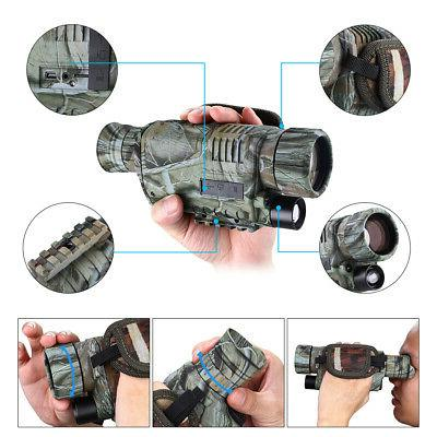 Night Vision 5X40 HD Optical Monocular Hunting Birding Watch