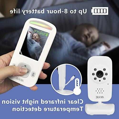 AXVUE Baby and Night Detection, 2-Way Talk, Power Saving Video On/Off, Lights.