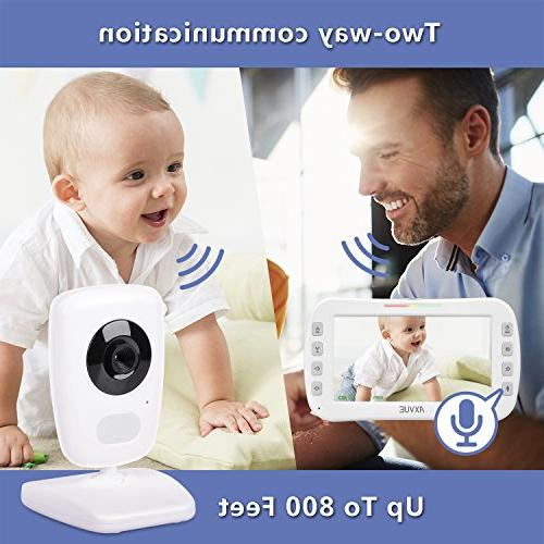 """AXVUE E632 Monitor and 5"""" Vision, Detection, Talk, Power Saving Cam"""