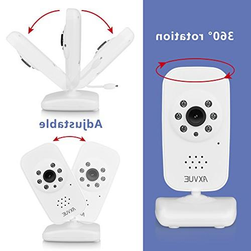 AXVUE Monitor and Night Detection, 2-Way Talk, Saving Video On/Off, Sound Lights.