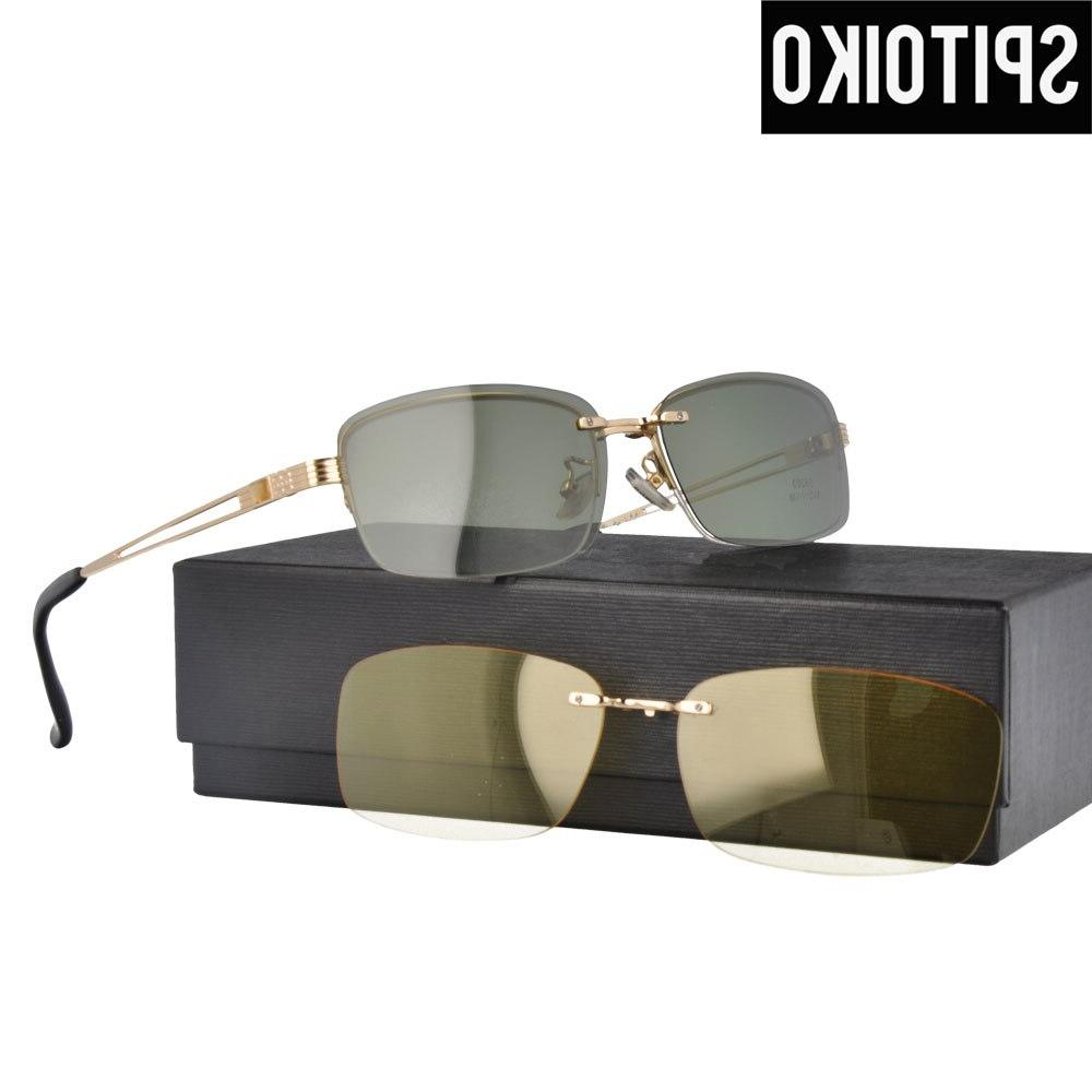 fashional polarized sunglasses men double lens eyeglasses
