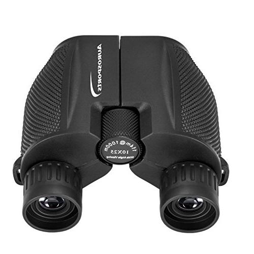 Aurosports 10x25 High Powered Binoculars With Light Bird Watching Outdoor Sports Concerts