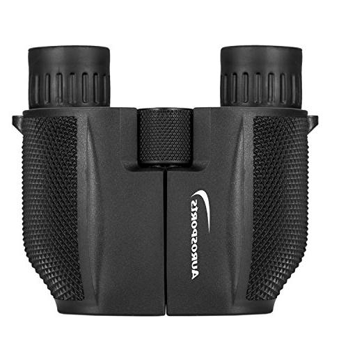 Aurosports 10x25 Folding Powered Light Night Vision Bird Watching Outdoor Games Concerts