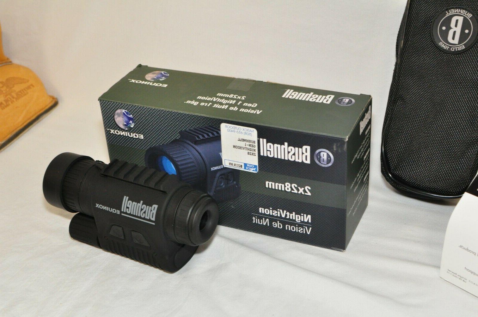 Bushnell Gen-1 Night vision 2x28mm New Box. Runs CR 123