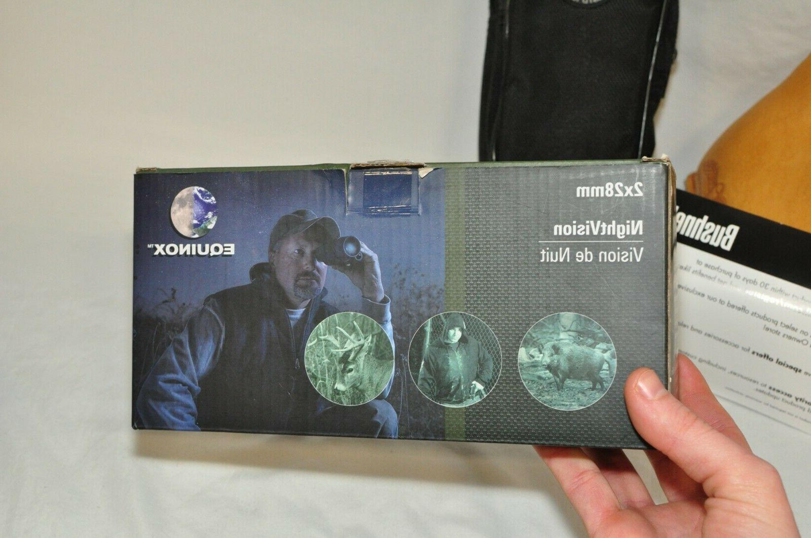 Bushnell Night 2x28mm Box. 123 Batteries