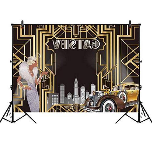 great gatsby themed backdrop celebration