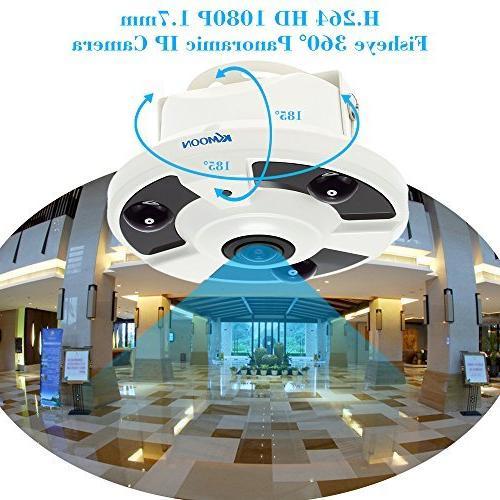 KKmoon H 264 HD 1080P 1 7mm Fisheye 360°Panoramic IP