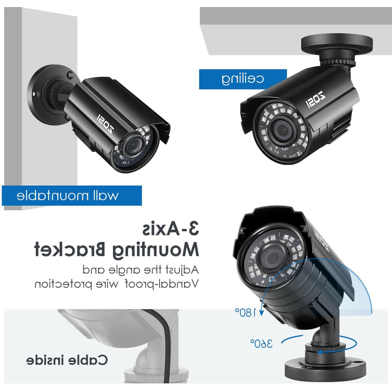 ZOSI 24PCS IR-LEDs 3.6mm IR Cut CCTV Security