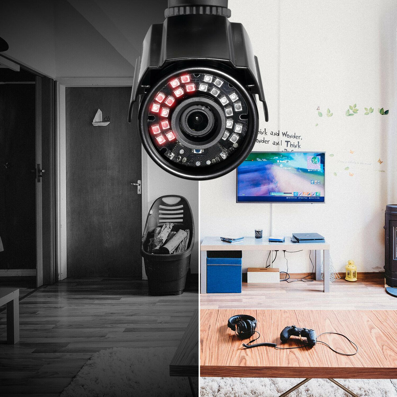 ZOSI HD 24PCS IR-LEDs IR Cut CCTV Security Camera