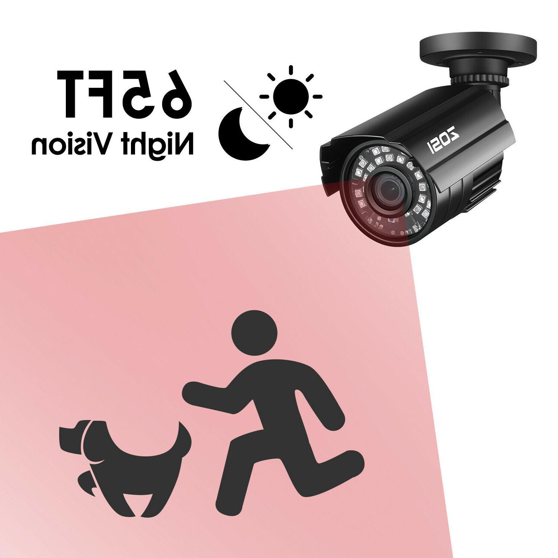 ZOSI 800TVL 24PCS IR-LEDs lens with IR Security Camera