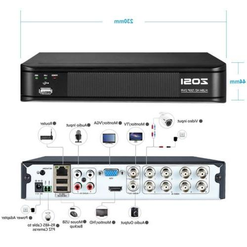 ZOSI CCTV Camera DVR Night Home System