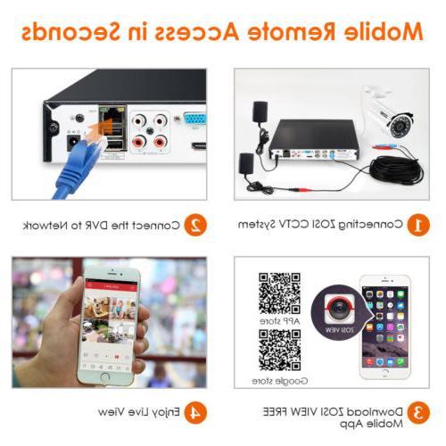 ZOSI HDMI CCTV IR Outdoor Camera Vision Home