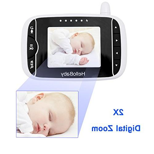 HelloBaby Video with Vision LCD 2 Way Audio and Lullabies, Long High Battery