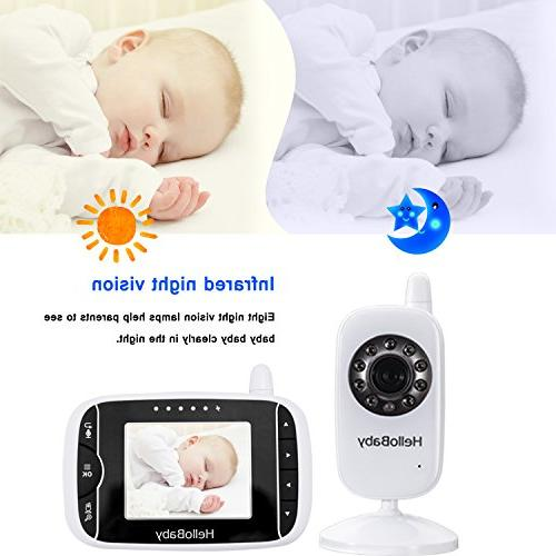 HelloBaby LCD 2 Way Audio Lullabies, Long Transmission High Capacity