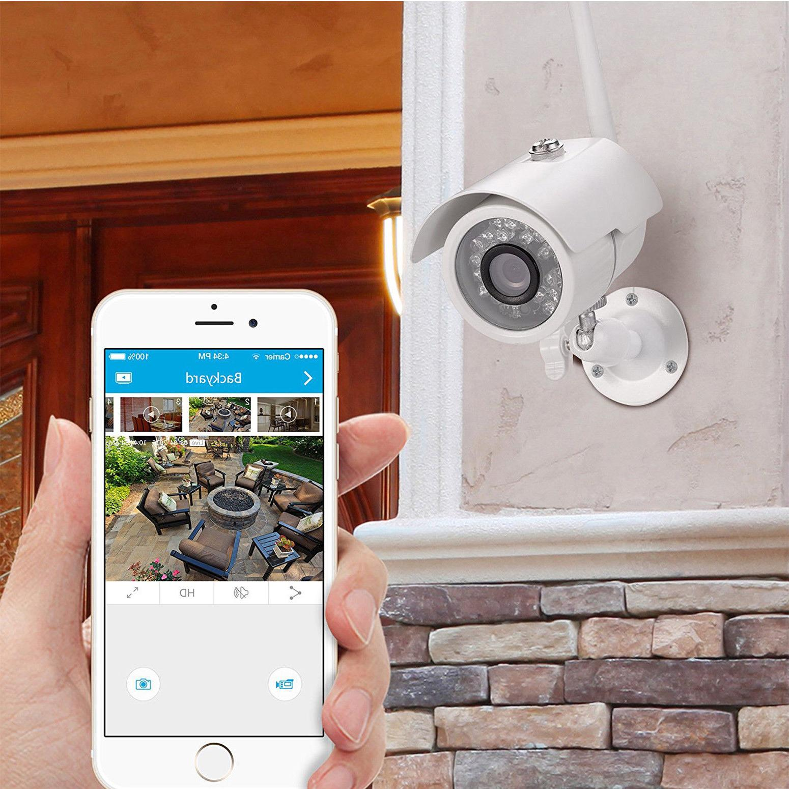 Home Wireless Security Video Camera System Surveillance 1080