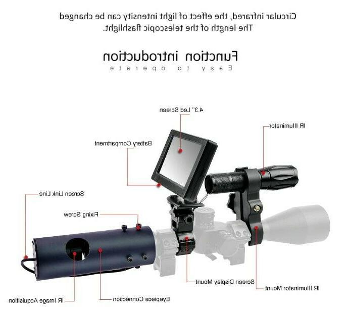 Hunting Scope Vision Display Laser Pointer Distance
