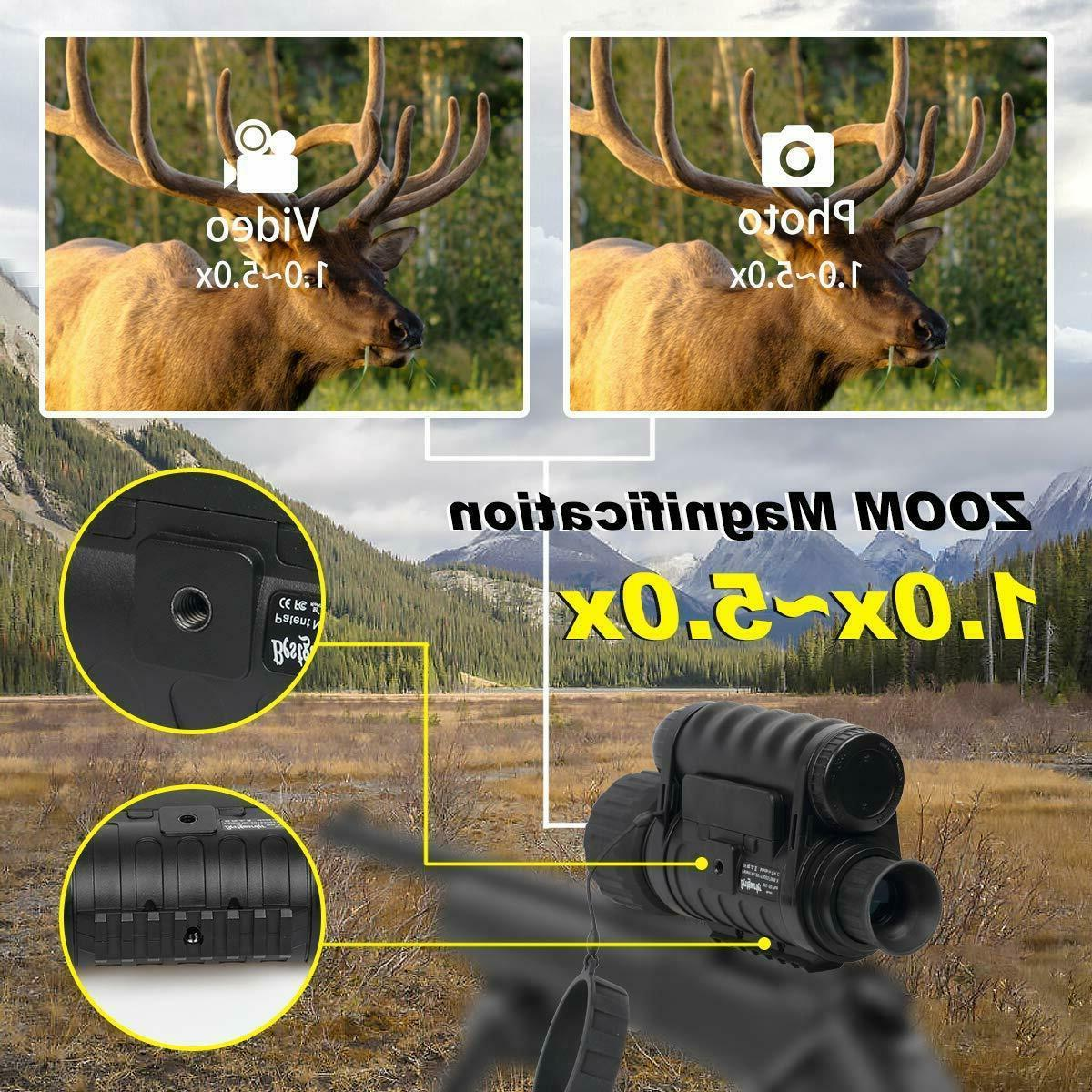 Infrared HD Monocular with Plus,6-30X50MM Sm