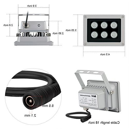 Univivi Infrared 6 LEDs Wide IR for Night Infrared for Camera,CCTV Security