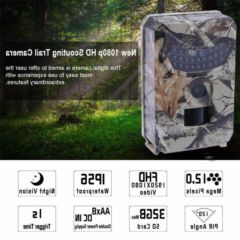 Infrared 1080P IR 12MP Hunting Cam Trail Camera