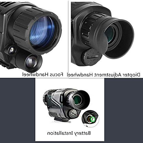 5x40mm Vision-HD Monocular Inch TFT and Camera&Camcorder 350m/1150ft a