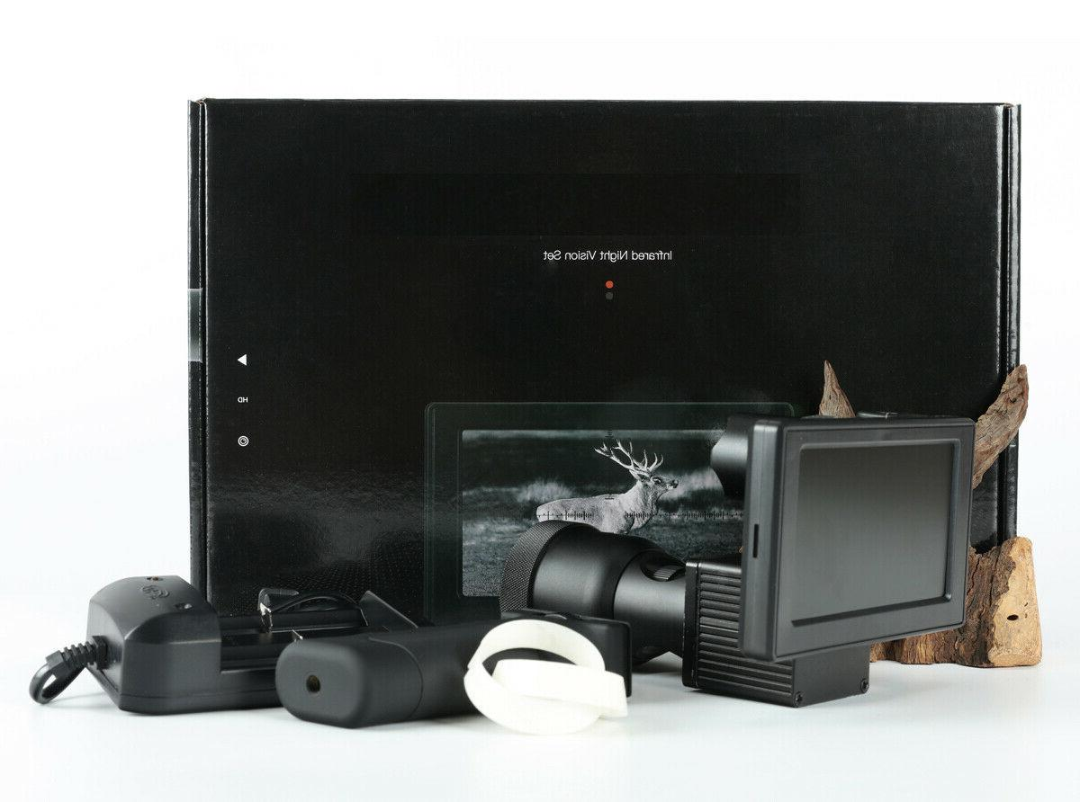 Infrared Vision set sight Rifle for scope 4.7'' screen