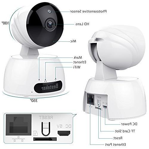 Wireless Security ,Besteker Video Surveillance Camera with Vision,2 Audio