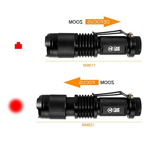 IR 850nm Hunting Flashlight- Light is Invisible Human Eyes used Night Vision Device With Battery