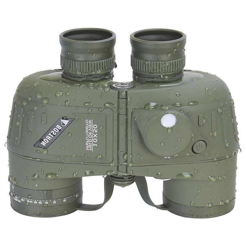 10X50 LLL Military Marine Binoculars BAK4 Lens Waterproof For Hiking